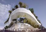 OXO Architects+藤本壮介がOMA等競合を抑えパリ再開発のコンペに勝利。環状道路の上空に浮遊する村を提案。127の家、2つのオフィスビル、4つ星ホテル等を含む