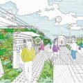 ロンドン・カムデン区ハイラインコンペでイギリスの建築事務所Studio WeaveとArchitecture 00の協同チームが勝利。幅1.8m長さ800mの自転車歩行者用空中緑道となる