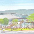 長野県塩尻市新体育館基本設計プロポーザルでINA・エーシーエ設計共同体が勝利。市や市民との協働プロセス、外観デザイン等を評価。次点の技術提案書も公開