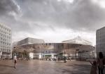 デンマークの建築家COBEとベルギーのBRUTがブリュッセル・シューマンのロータリー広場のコンペに勝利。同心円屋根は欧州の議会場形状より触発された