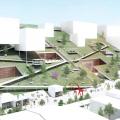 山本理顕が勝利した台湾・桃園美術館コンペの動画。傾斜屋根は地域社会や道路を挟んだ反対側の建物との連続性を意図したもの。3位のMVRDVの提案動画も公開