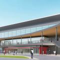 青森県七戸町新体育館設計プロポーザルで山下設計が勝利。疾走感のあるデザイン、駅から施設までの回遊性を構築し新しい街区の魅力を作る提案を評価。提案書公開