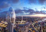 """フォスターアンドパートナーズによるロンドンの観光施設""""The Tulip""""。最上部の教育施設は子供の為に無料公開される。360度パノラマバーやレストランを備える"""