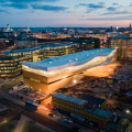 ALA Architectsによるヘルシンキ中央図書館が完成。デジタル書籍を備え、空間の3分の1しか本を保持しない。最上階以外のファサードは木製となる