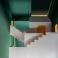 中国・深セン市の建築事務所、Studio 10が画家のエッシャー風ゲストハウスをデザイン。2次元から3次元にシームレスに繋ぎ、錯視要素により無限の空間を表現