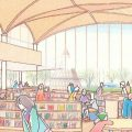 長崎県五島市立新図書館設計プロポーザルで、梓・むつ共同企業体が勝利。天井はスパンを飛ばすため、鉄骨と木を併用したヴォールトの屋根を採用。技術提案書公開